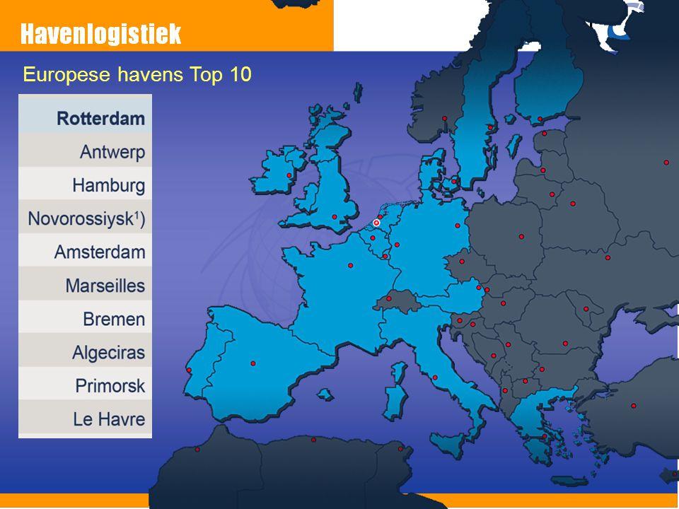 Europese havens Top 10 Wat is de top drie Gemeten aan wat