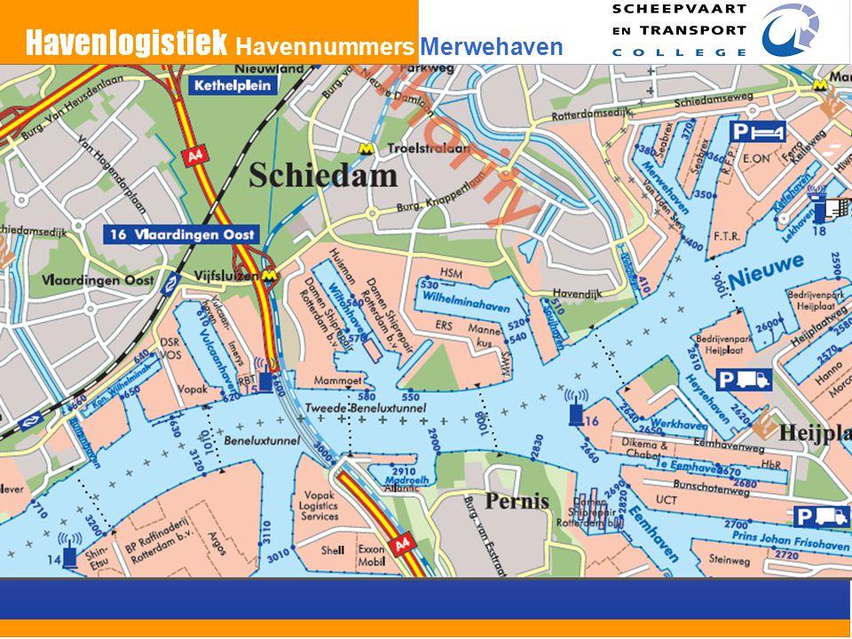 Havennummers Merwehaven