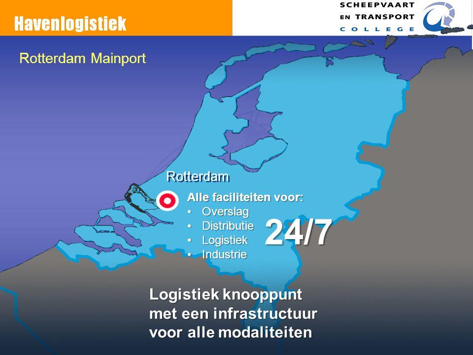 24/7 Logistiek knooppunt met een infrastructuur voor alle modaliteiten