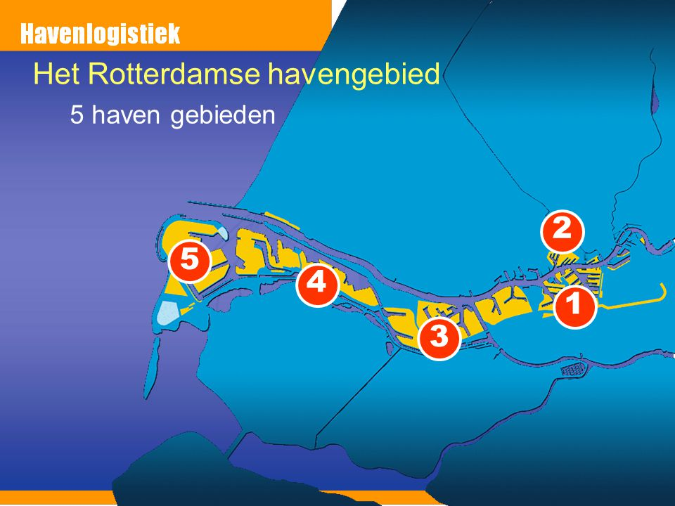 Het Rotterdamse havengebied