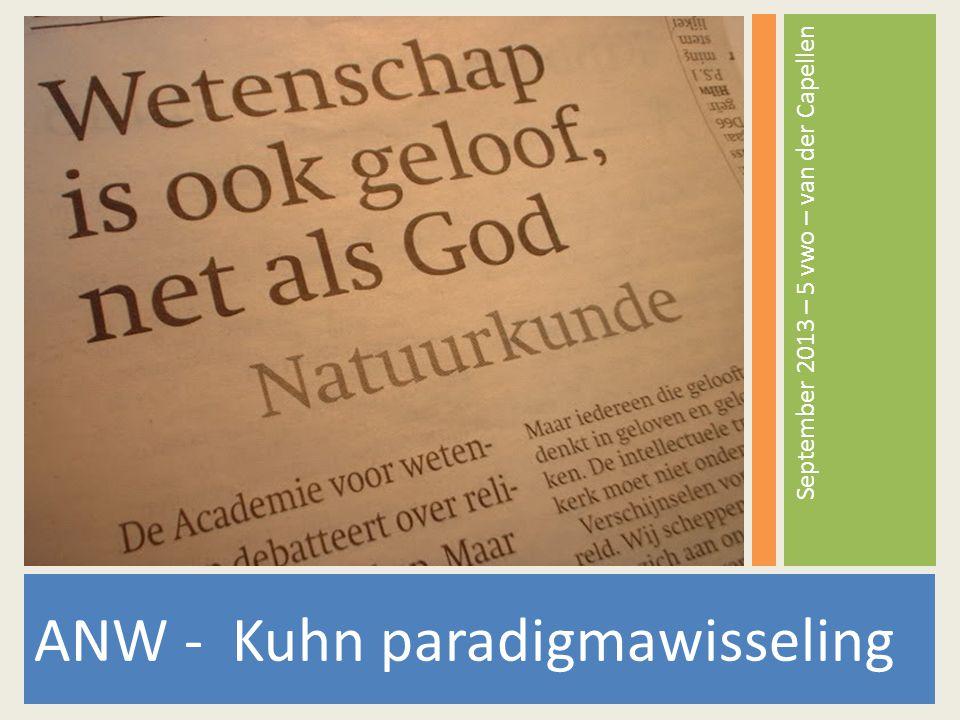 ANW - Kuhn paradigmawisseling