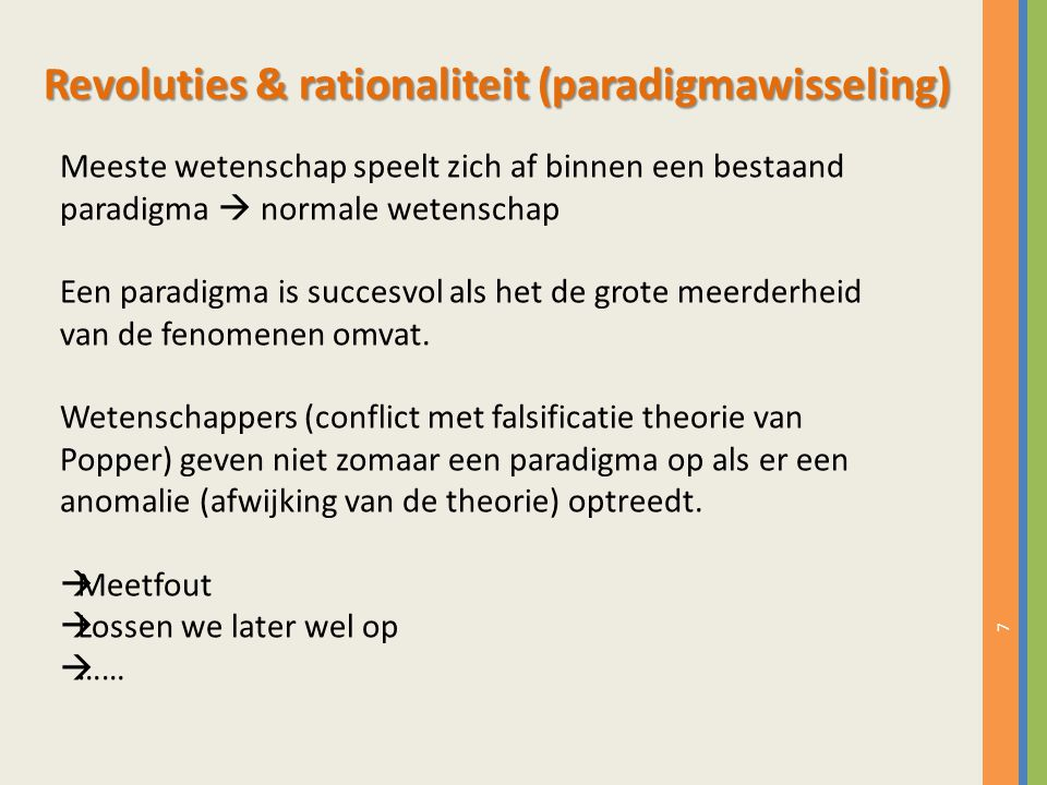 Revoluties & rationaliteit (paradigmawisseling)