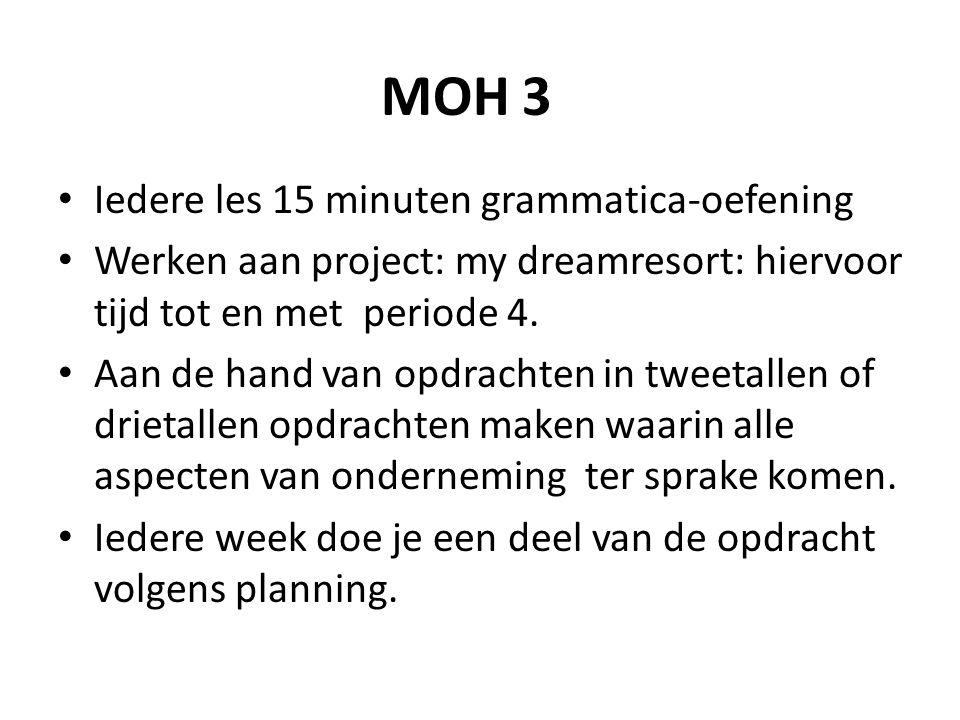 MOH 3 Iedere les 15 minuten grammatica-oefening