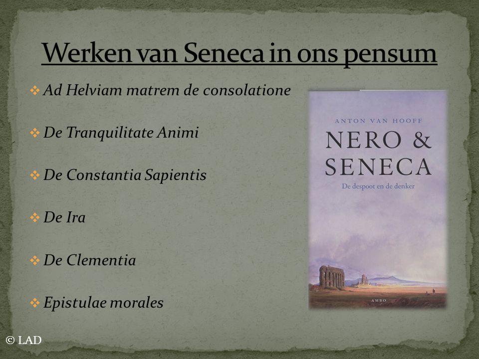 Werken van Seneca in ons pensum