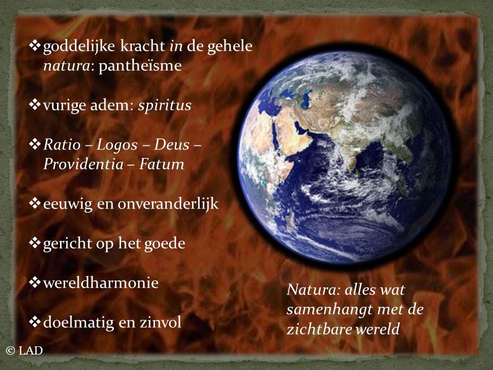 goddelijke kracht in de gehele natura: pantheïsme