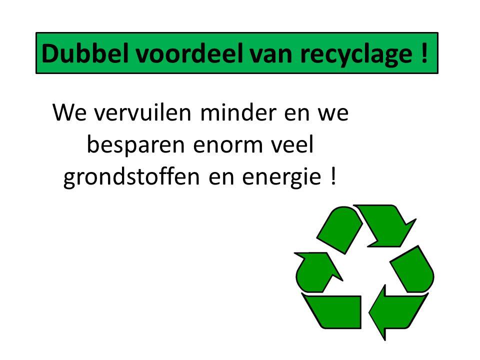 Dubbel voordeel van recyclage !