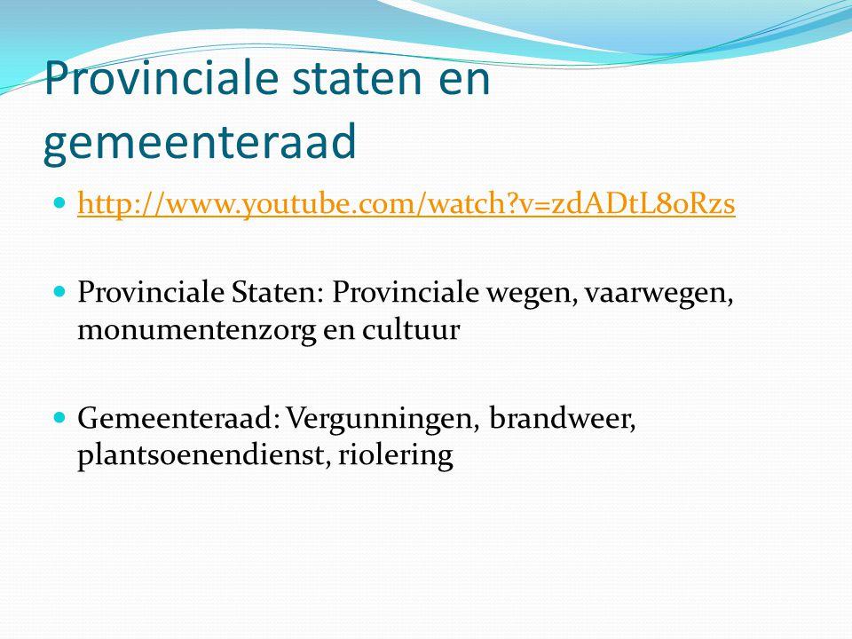 Provinciale staten en gemeenteraad