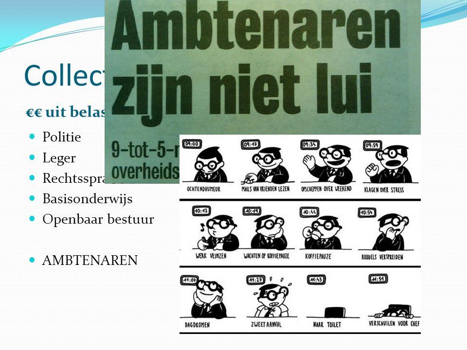 Collectieve sector €€ uit belastingen €€ uit sociale premies Politie