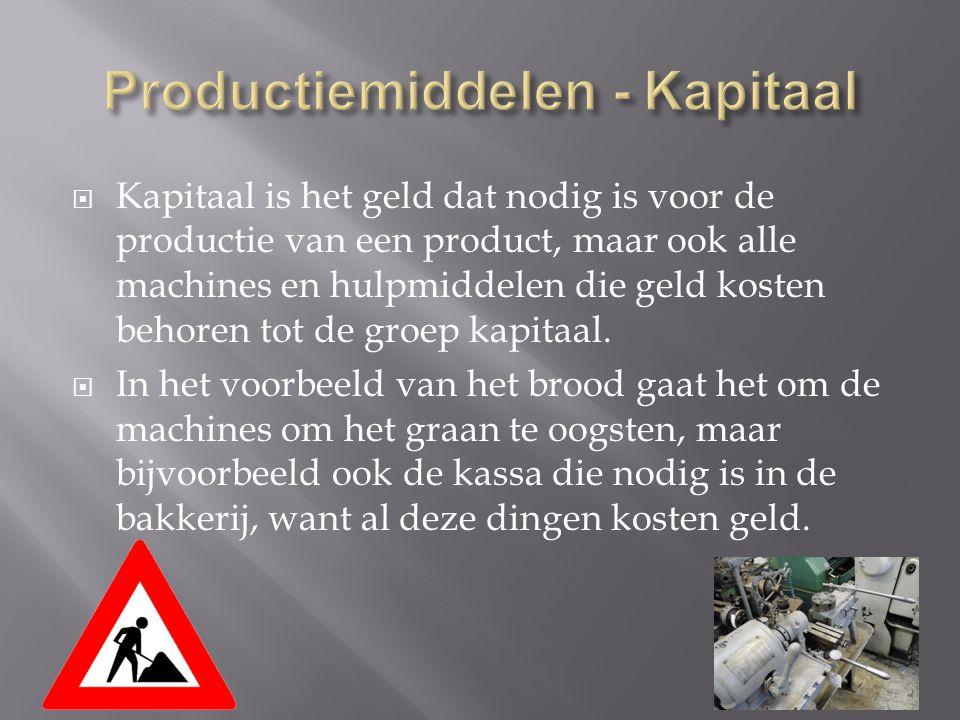 Productiemiddelen - Kapitaal