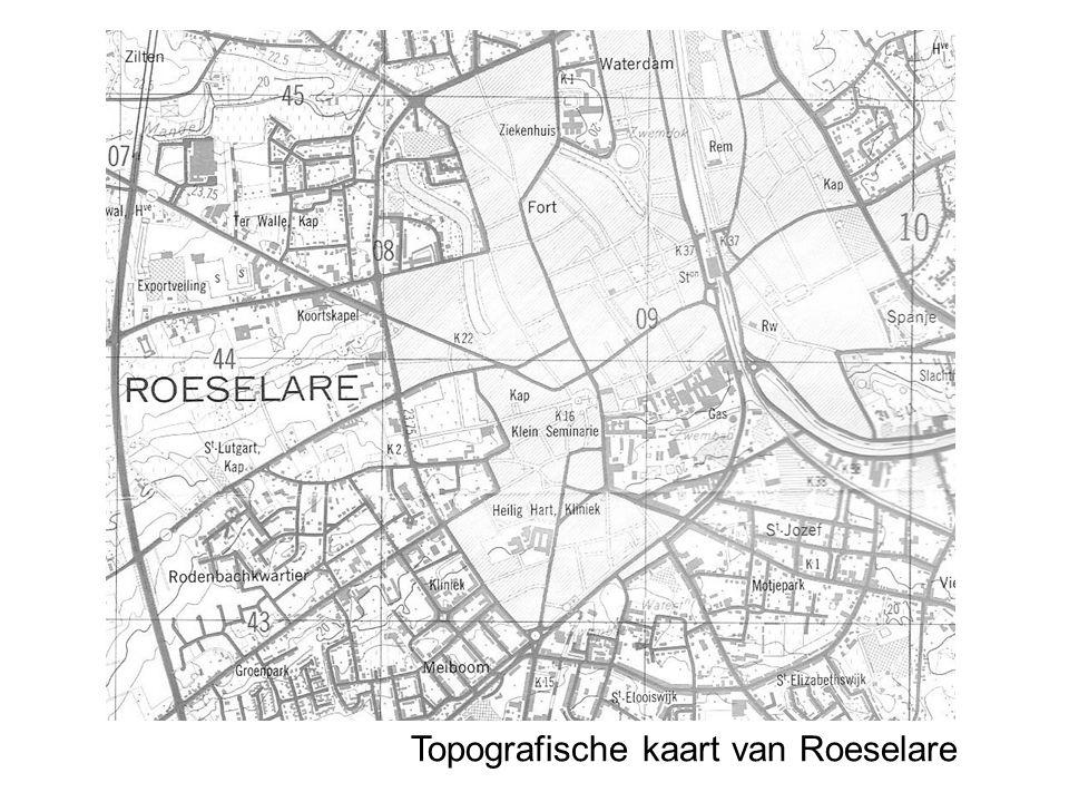 Topografische kaart van Roeselare