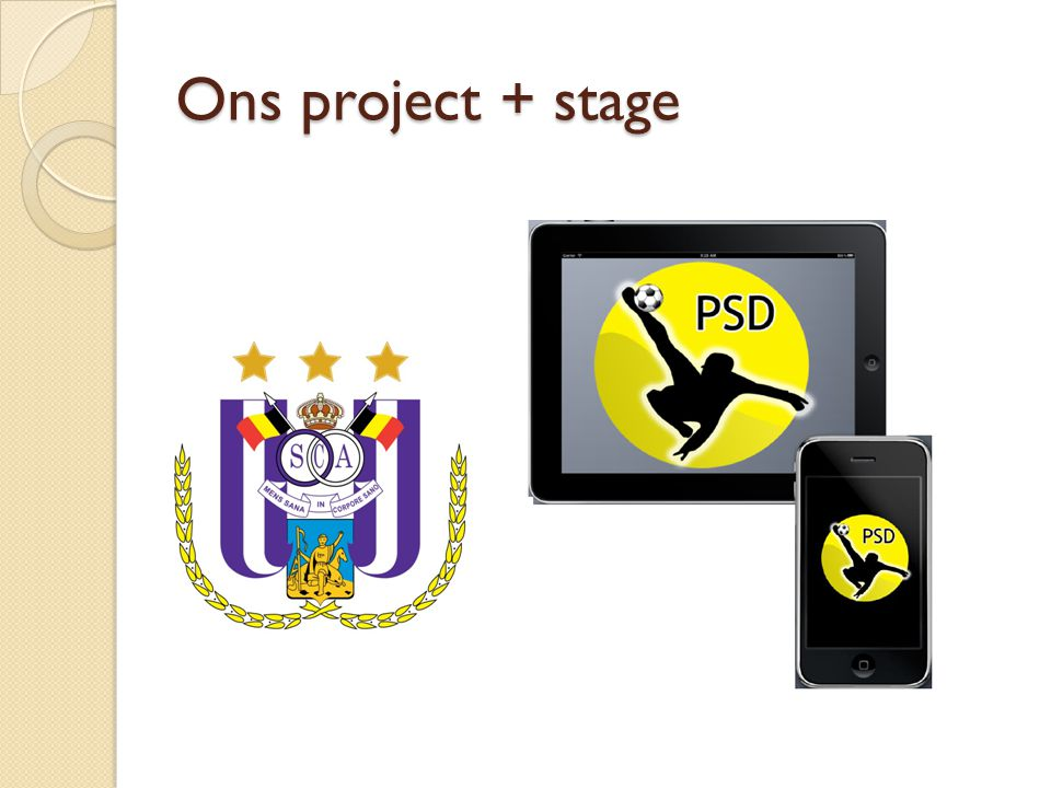 Ons project + stage
