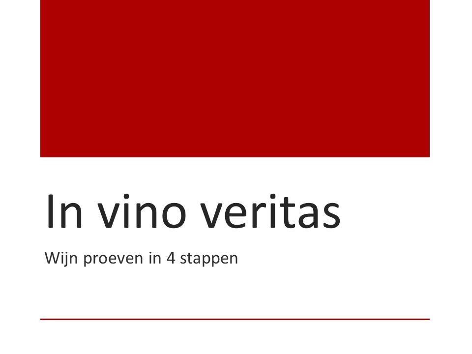 Wijn proeven in 4 stappen