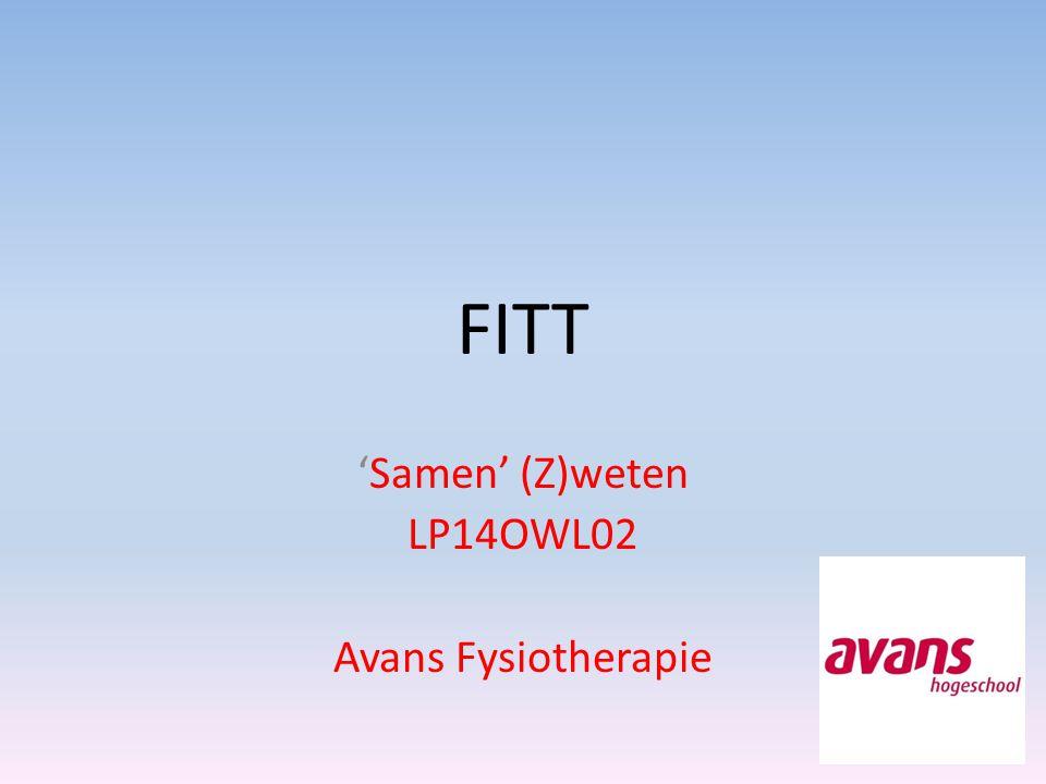 'Samen' (Z)weten LP14OWL02 Avans Fysiotherapie