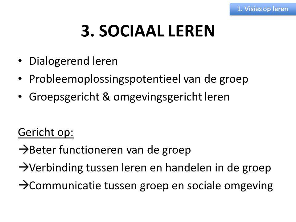 3. SOCIAAL LEREN Dialogerend leren