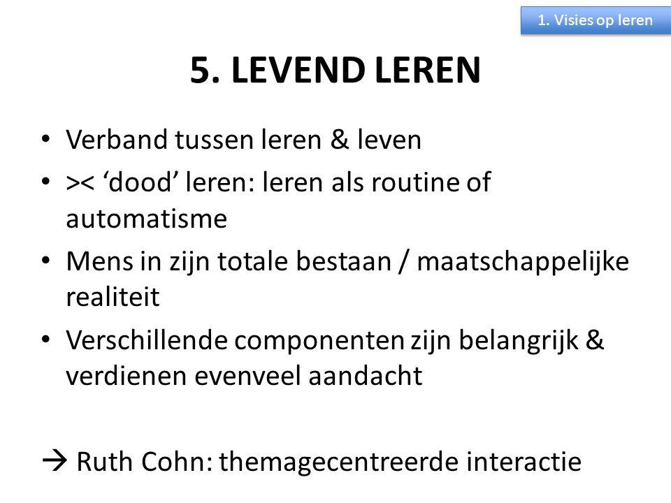 5. LEVEND LEREN Verband tussen leren & leven