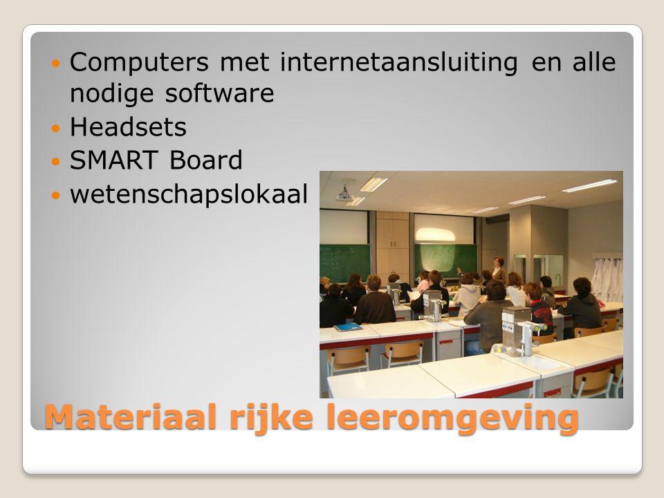 Materiaal rijke leeromgeving