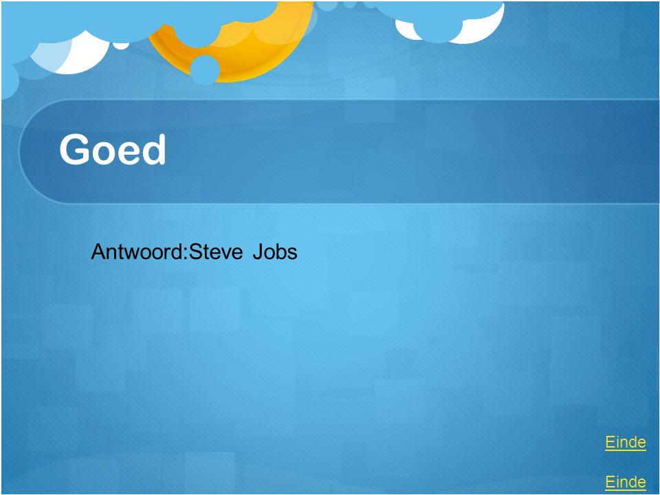 Goed Antwoord:Steve Jobs Einde