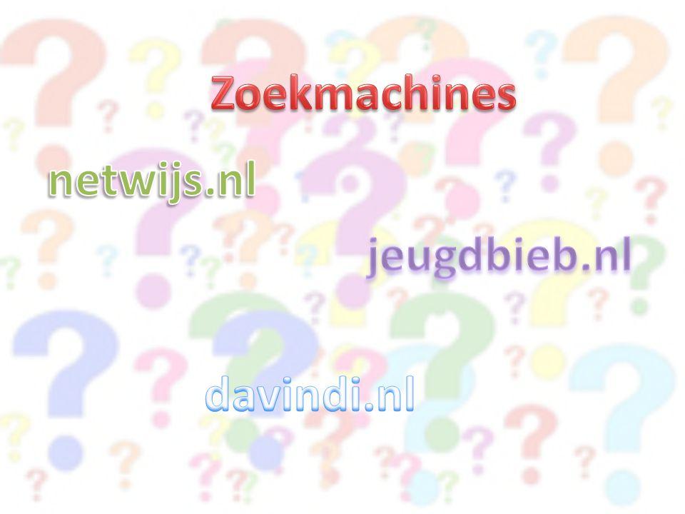 Zoekmachines netwijs.nl jeugdbieb.nl davindi.nl