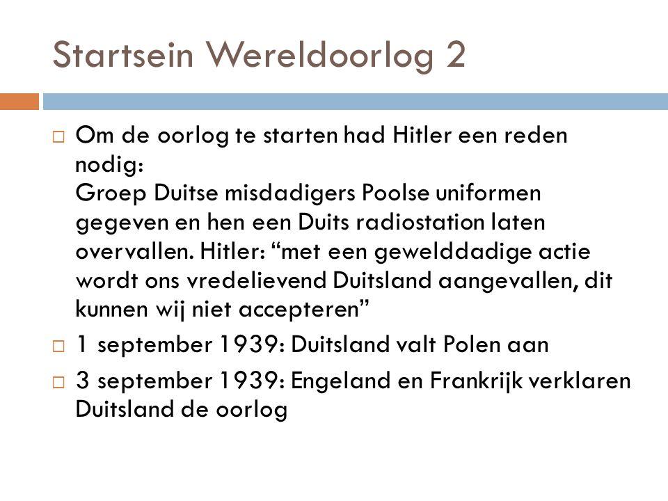 Startsein Wereldoorlog 2