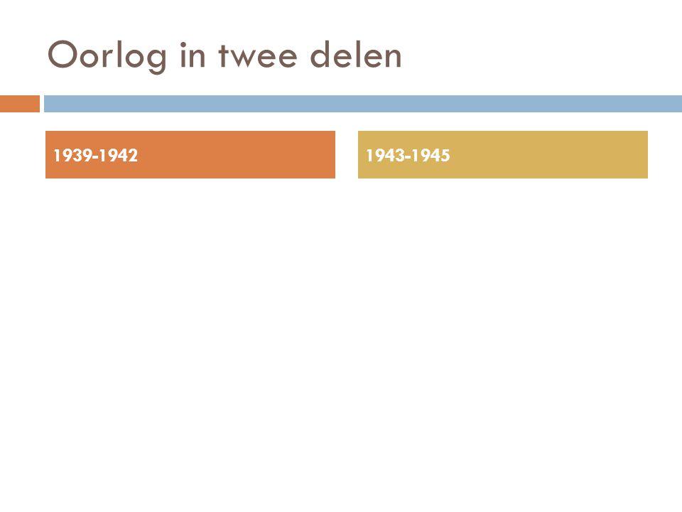 Oorlog in twee delen 1939-1942 1943-1945