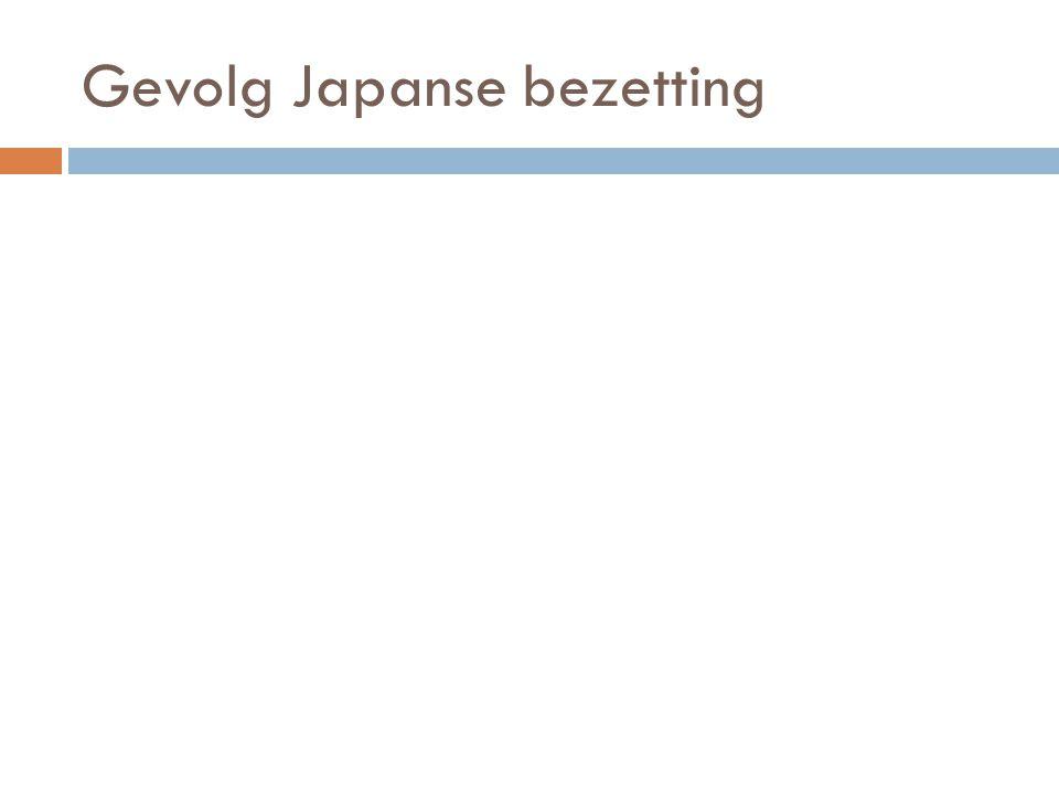 Gevolg Japanse bezetting