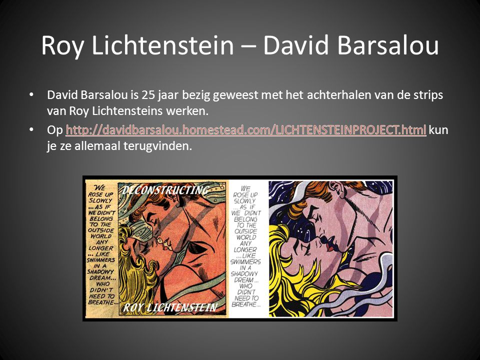 Roy Lichtenstein – David Barsalou