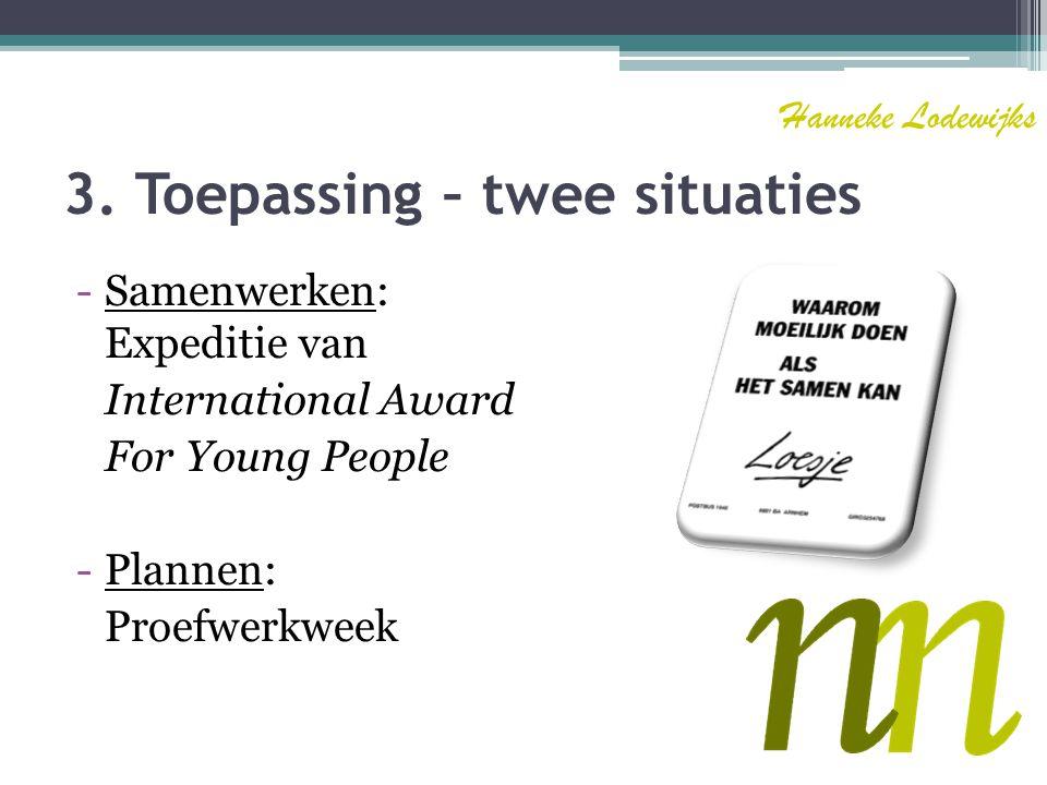 3. Toepassing – twee situaties