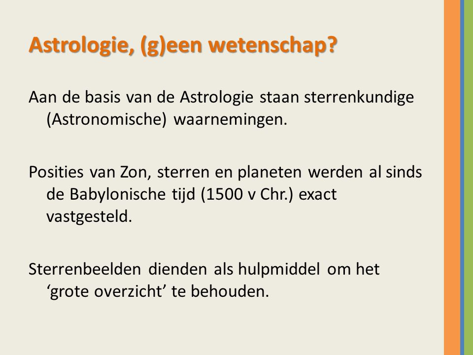 Astrologie, (g)een wetenschap