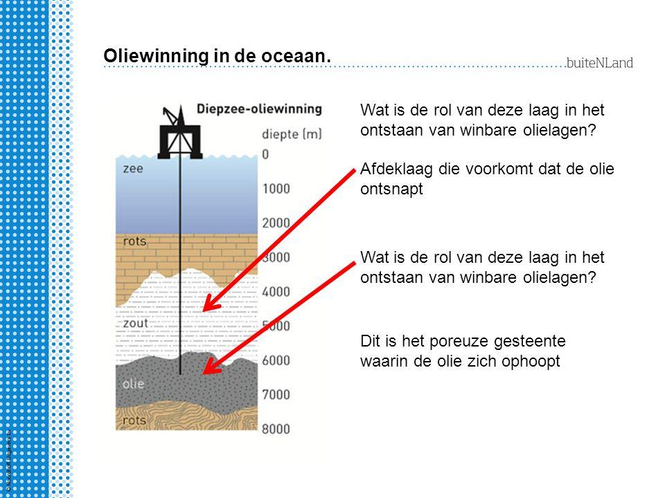 Oliewinning in de oceaan.
