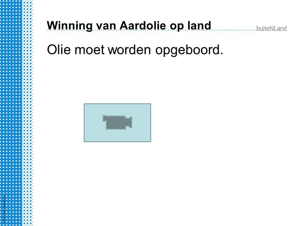 Winning van Aardolie op land