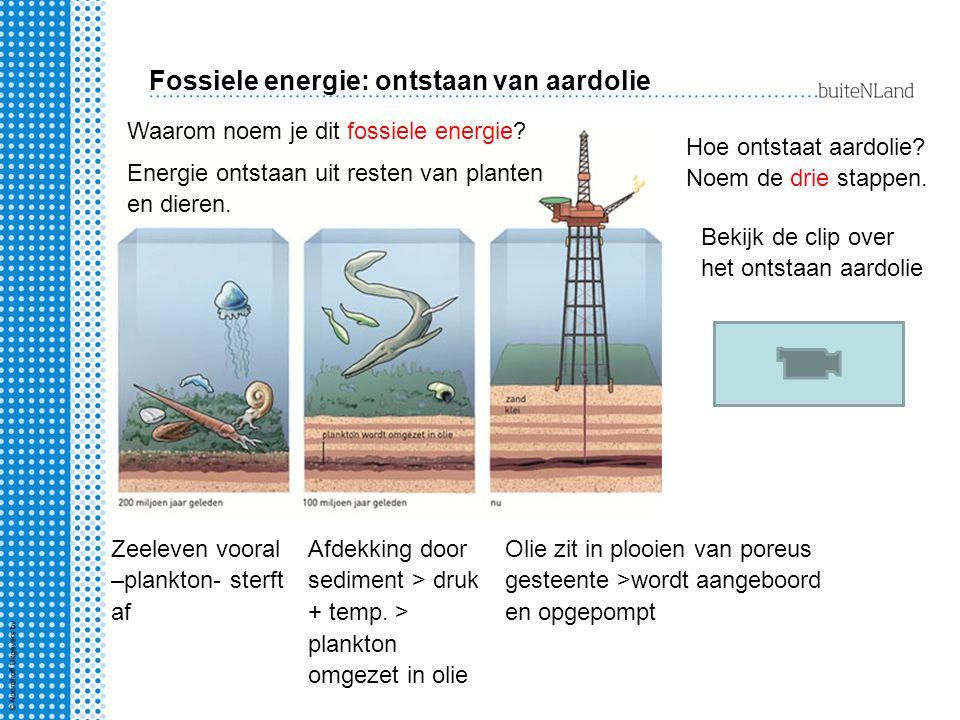 Fossiele energie: ontstaan van aardolie