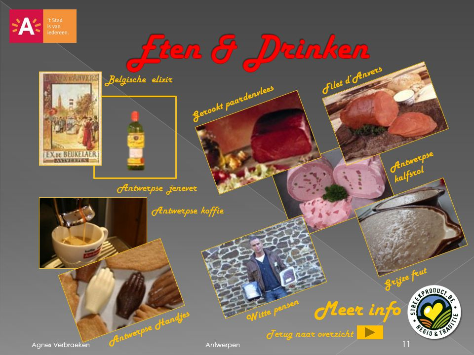 Eten & Drinken Meer info Filet d'Anvers Belgische elixir