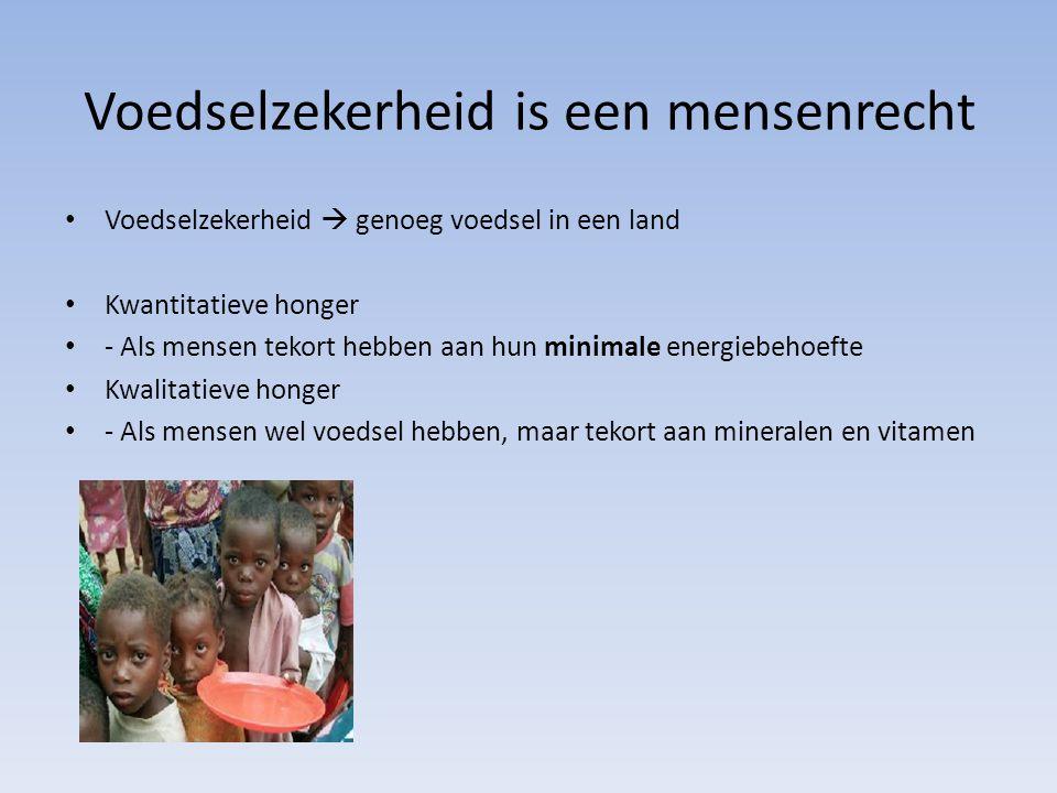 Voedselzekerheid is een mensenrecht