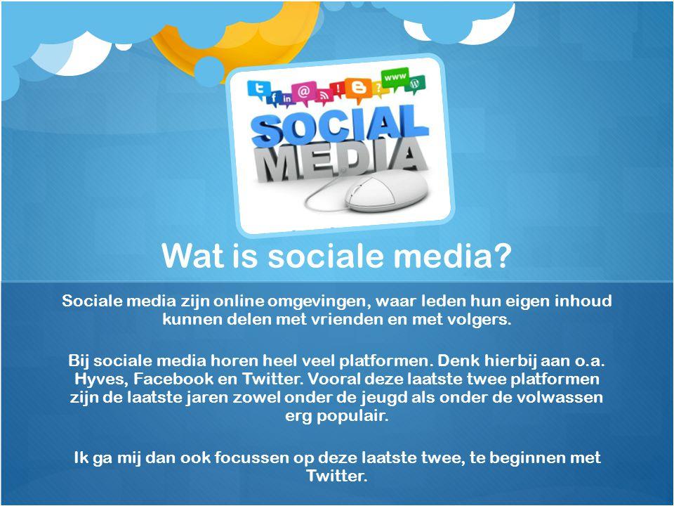 Wat is sociale media Sociale media zijn online omgevingen, waar leden hun eigen inhoud kunnen delen met vrienden en met volgers.
