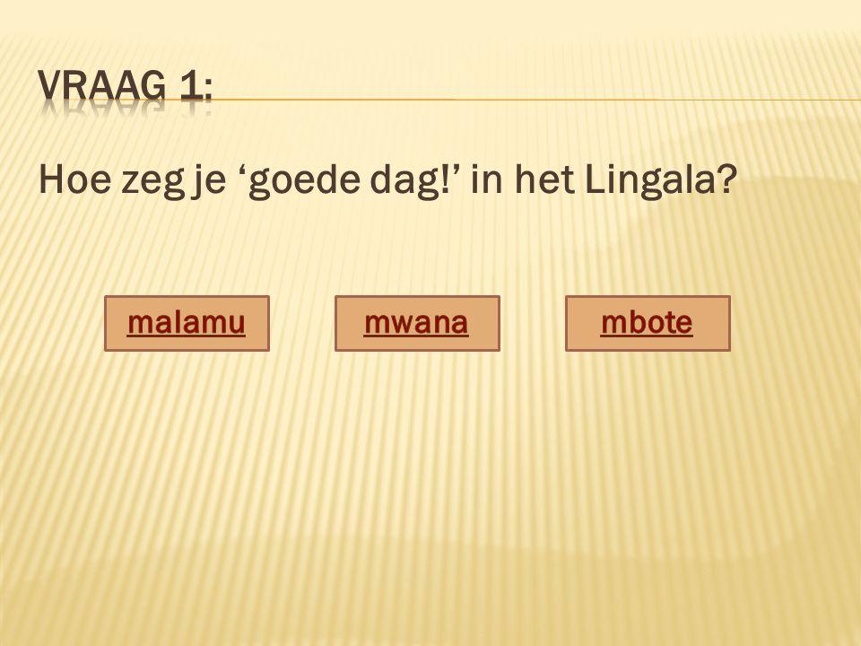 Hoe zeg je 'goede dag!' in het Lingala