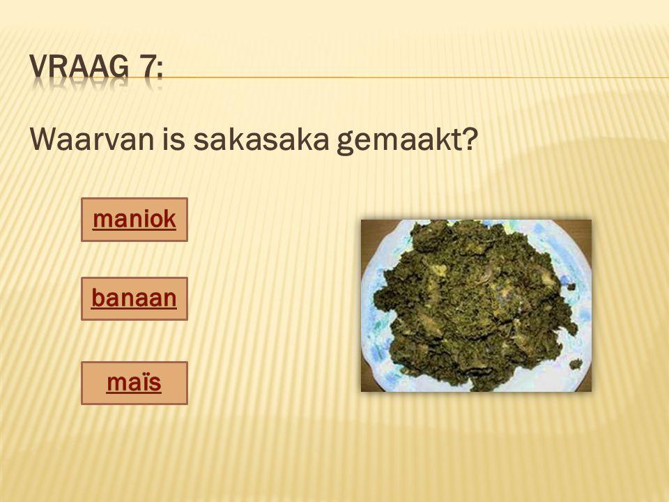 Waarvan is sakasaka gemaakt