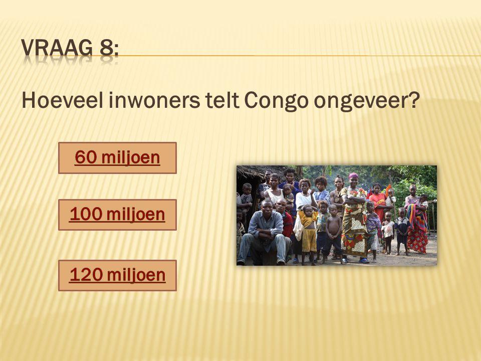 Hoeveel inwoners telt Congo ongeveer