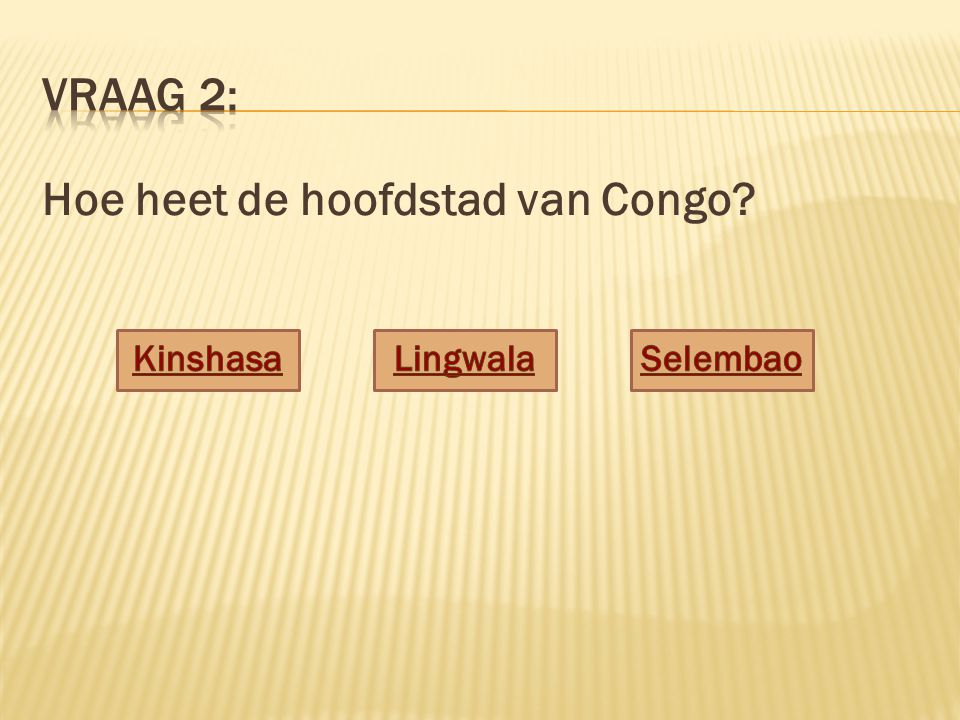Hoe heet de hoofdstad van Congo