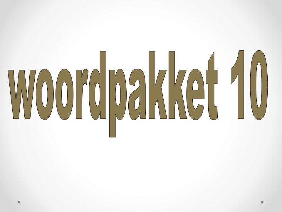 woordpakket 10