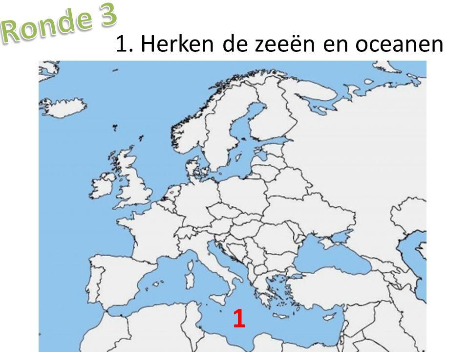 1. Herken de zeeën en oceanen