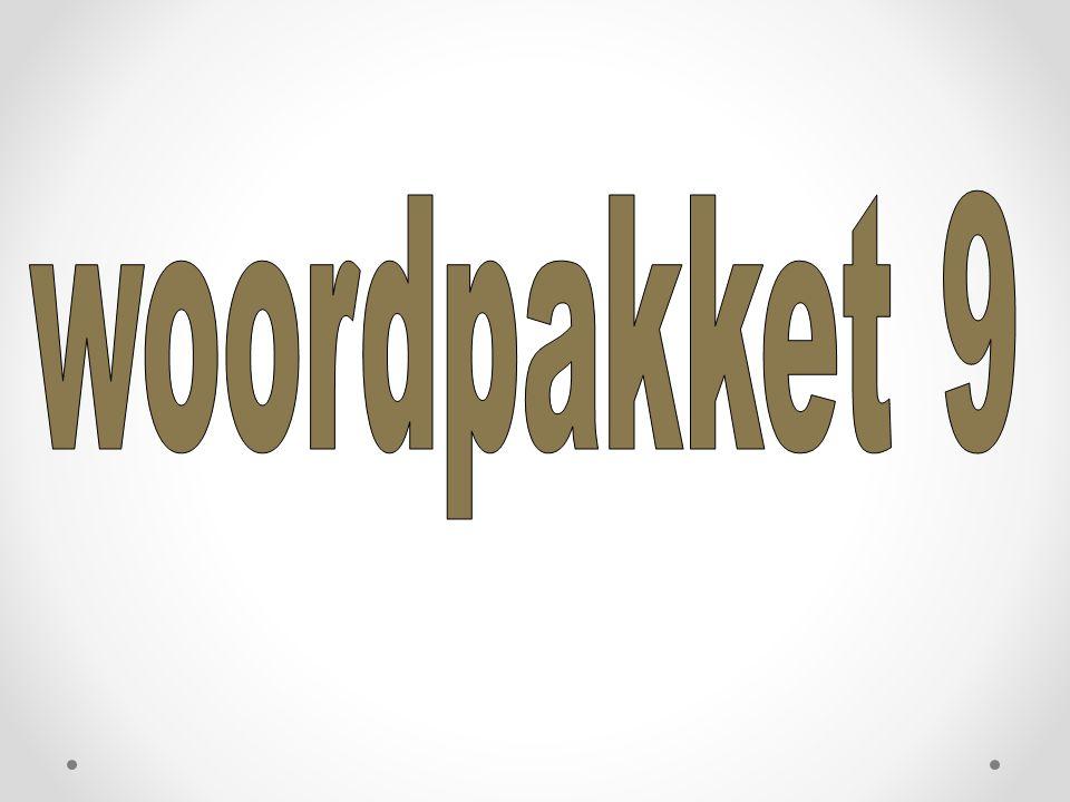 woordpakket 9