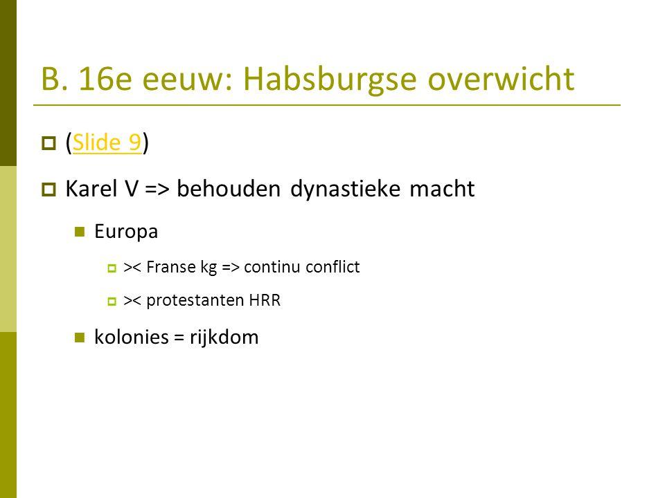 B. 16e eeuw: Habsburgse overwicht