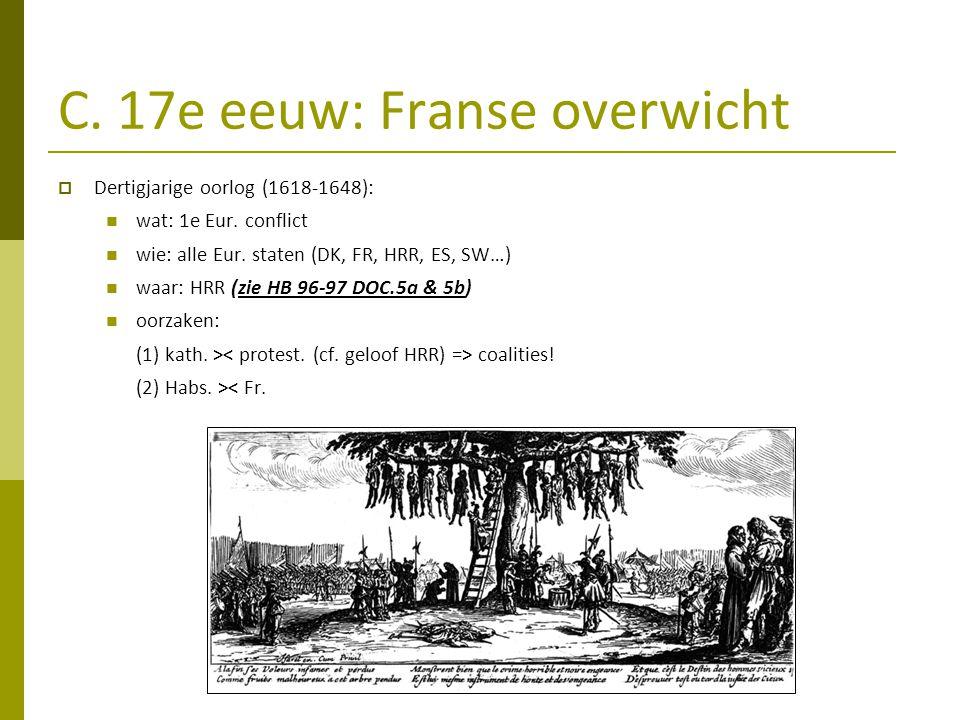 C. 17e eeuw: Franse overwicht