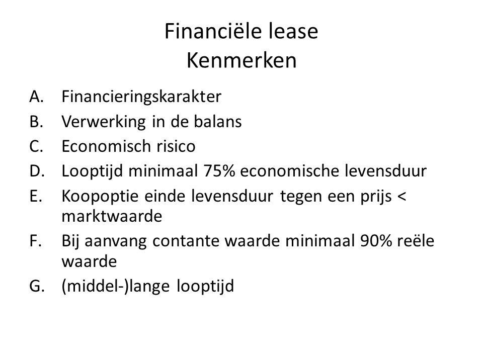 Financiële lease Kenmerken