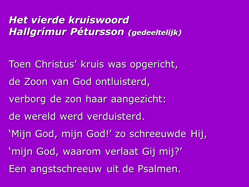 Het vierde kruiswoord Hallgrímur Pétursson (gedeeltelijk)
