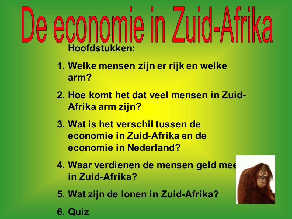 De economie in Zuid-Afrika