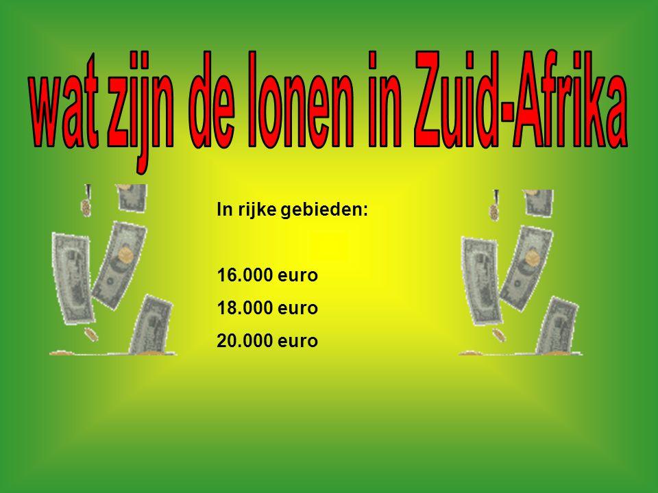 wat zijn de lonen in Zuid-Afrika