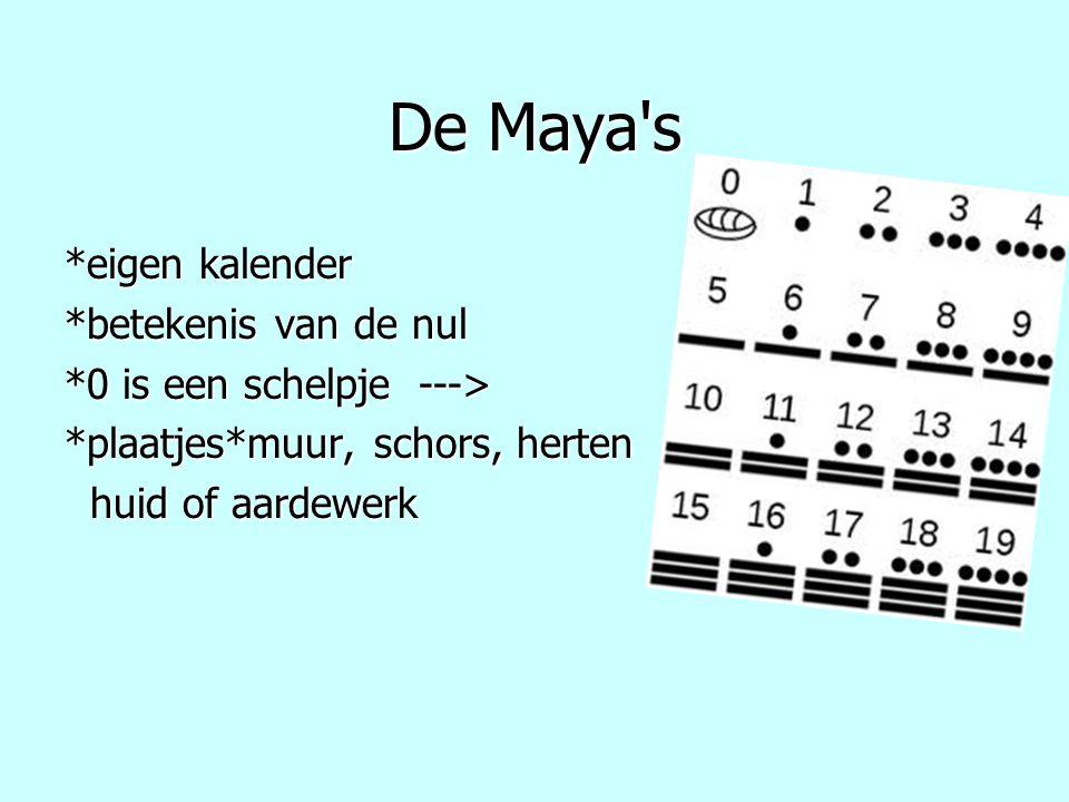 De Maya s *eigen kalender *betekenis van de nul