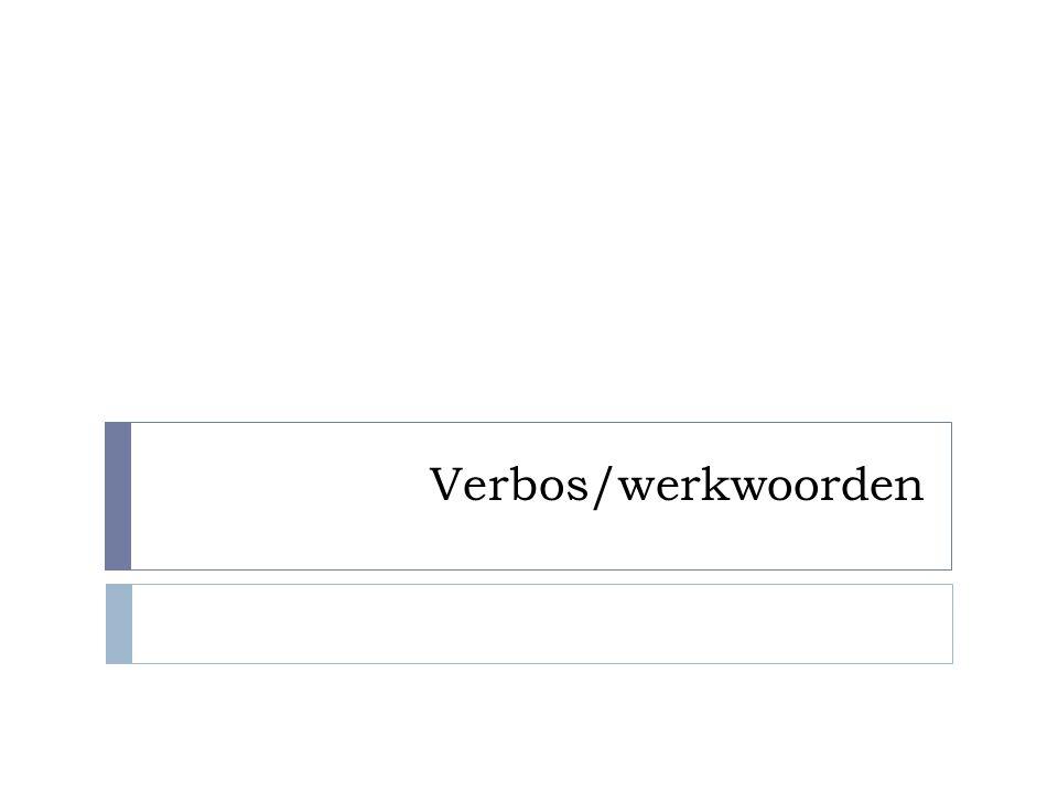 Verbos/werkwoorden
