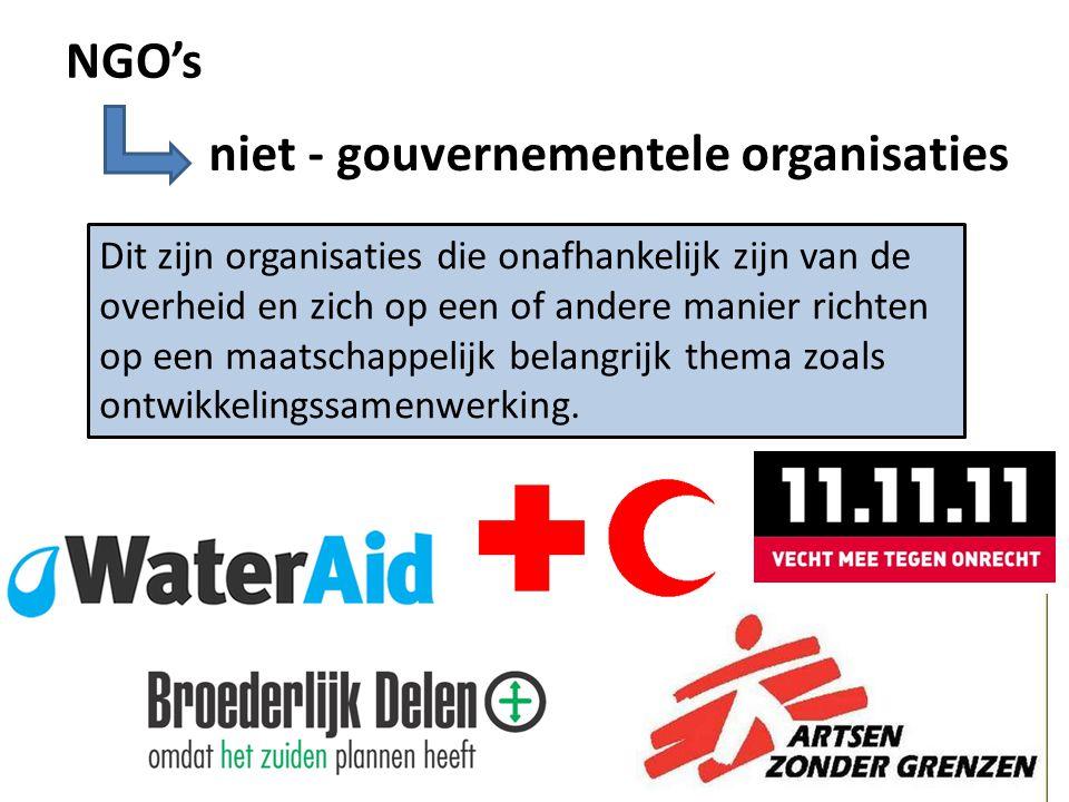 niet - gouvernementele organisaties